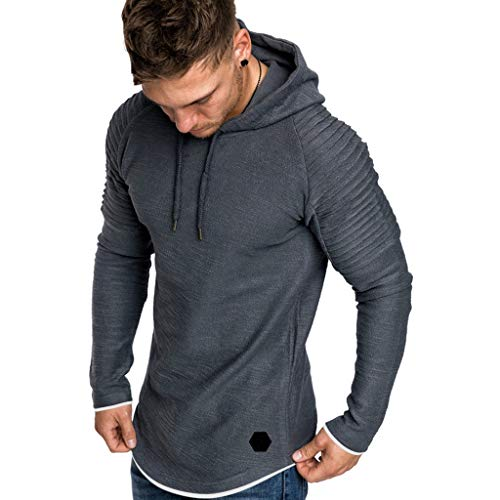 DUCK AND COVER Mens Hooded Sporty Overhead Sweatshirt Gym Fashion Hoodie Top