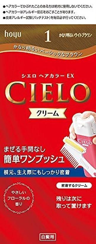 鼻成功押し下げるホーユー シエロ ヘアカラーEX クリーム 1 (かなり明るいライトブラウン)×6個