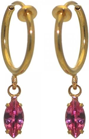 CLEMENTINE CERCEAU Gold Plated Rose clip on Earrings