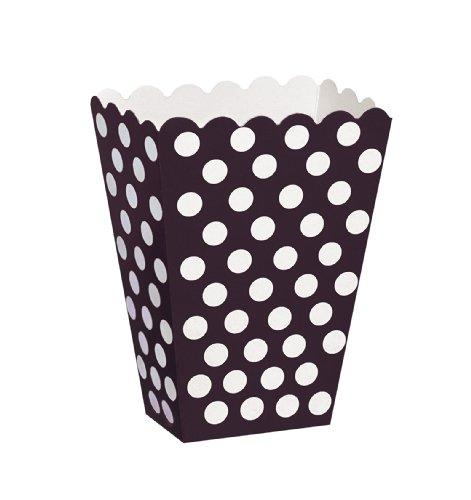 Unique Party- Treat Box Scatole Popcorn Sorpresa in Set da 8, Nero (Black), Confezione da 8, 59290