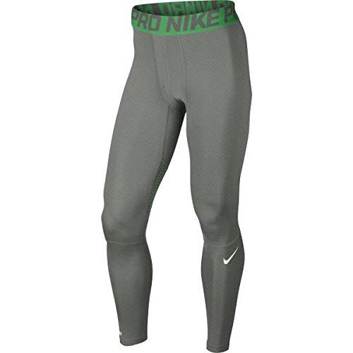 Nike Hypercool Tight–Fitness- und Ausübung Laufhose für Herren, Herren, Gris/Verde/Blanco, Medium
