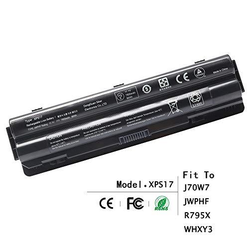 Mejor LQM 11.1V 56Wh New Laptop Battery for Dell XPS 14 15 17 L401x L501x L502x L521x L701X,Compatible P/N:312-1127 J70W7 R795X JWPHF crítica 2020