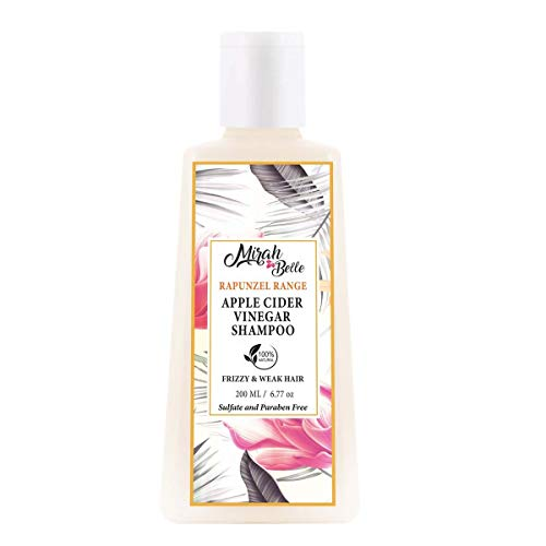 Mirah Belle - Apple Cider Vinegar Shampoo (200 ML) - Dry and Frizzy Hair - Sulfate and Paraben Free