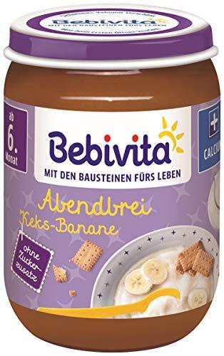 Bebivita Abendbrei Keks, 6er Pack (6 x 190 g), 1084-01