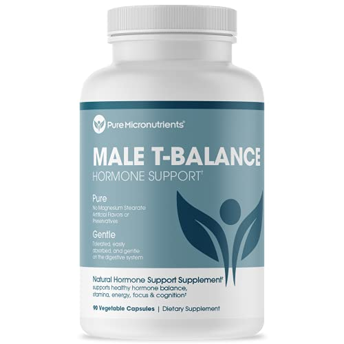 Male T-Balance: Natural Supplement for Men That Supports Energy, Drive, Performance & Stamina. Maca, Ginseng, Horny Goat Weed, Muira Puama & Tribulus - Pure Micronutrients