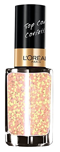 L'Oréal Paris Make-Up Designer Top Coat Le Vernis 927 Splash Peach esmalte...
