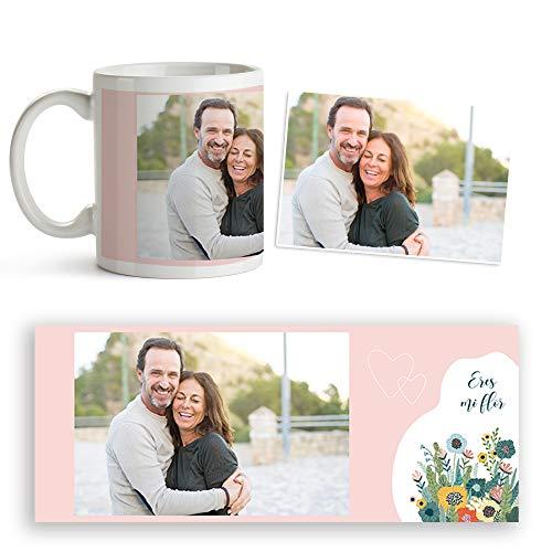 Fotoprix Taza San Valentín Personalizada con Foto y Texto | Regalo parejas y novios | Diseños de Amor (Enamorados)