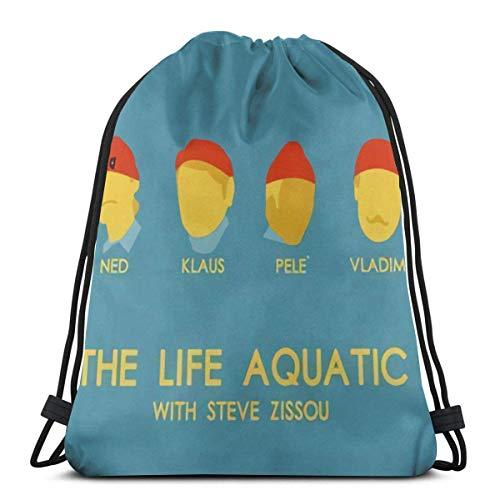 Affordable shop The Life Aquatic with Steve Zissou 3D Print Drawstring Backpack Rucksack Shoulder Bags Gym Bag For Adult 16.9