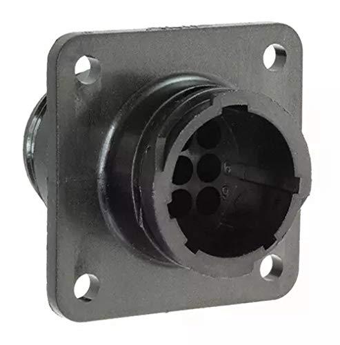 Amp 206705-1 Circular Connector, Standard, Receptacle, Housing 13/9, Series 1, Plastic (Pack of 2)