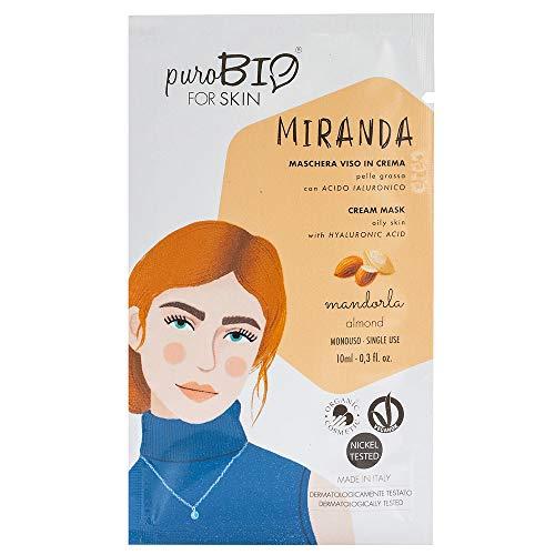 Purobio Miranda Maschera Viso In Crema Per Pelle Grassa, 04 Mandorla - 10 Ml