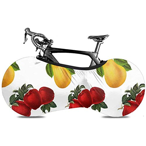 Olive Croft Muster Obst Vintage Apfel Birne Design Mädchen Fahrradabdeckung Überdachte Fahrrad Fahrradabdeckung Indoor Fit Fast alle Fahrräder