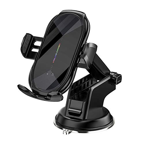 Wireless Car Charger Mount, Auto-Clamping Qi 10W 7.5W Fast Charging Car Phone Holder Air Vent Compatible withiPhone11/11Pro/11ProMax/XSMax/XS/X/8/8+ Samsung S10/S10+/S9/S9+/S8/S8+/Note and More