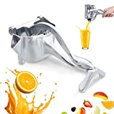 CHARMINER Stainless Steel Manual Fruit Juicer, Alloy Lemon Squeezer, Stainless Steel Lemon Orange Juicer Hand Press Detachable Extractor Tool for Oranges Lemons for Home