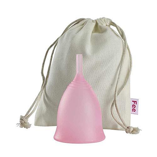 Feecup Menstruationstasse FEE CLASSIC Grösse S inkl. Stoffbeutel - medizinisches Silikon, hypoallergen, FDA zertifiziert - eine der beliebtesten Menstruationskappen in DEUTSCHLAND