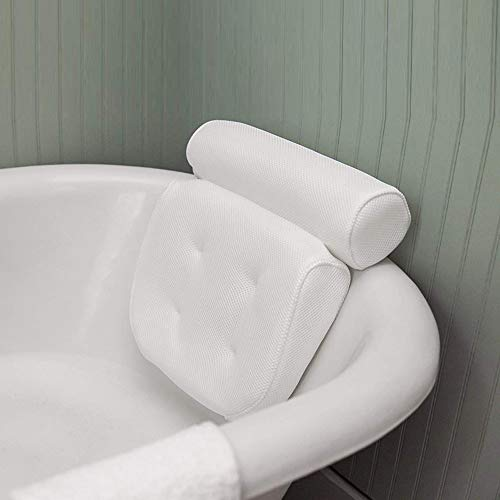 Relax love Badewannenkissen,Badekissen für Badewanne,Nackenkissen für Badewanne mit 6 Saugnäpfen und 3D-Air-Mesh-Technologie als Badewannen Zubehör für Badewannen und Home Spa
