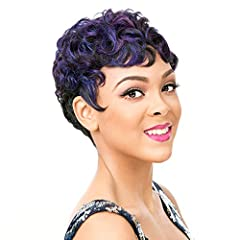 "A Full Wig with Side Lace Part Vintage finger wave flare + a flawless lace part to mimic a realistic parting space Pre-Tweezed Side Lace Part Style ranging from 1.5""-4"" Soft and breathable cap. One size fits all with adjustable bands and S-hooks High..."