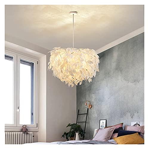 GZXYKJ Colgando Lámpara Moderna lámpara LED Creativa Personalidad Pluma Redondo lámpara Lámpara de Restaurante Bar cafetería Sala de Estar lámpara lámpara iluminación