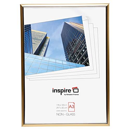 Inspire For Business Easy Loader fotolijst/posterlijst, A3-formaat, goudkleurig