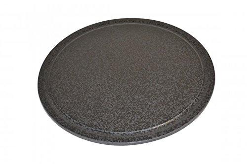 Pizzastein, Heißer Stein, Grillstein aus glasiertem Cordierit 380mm mit Saftrille