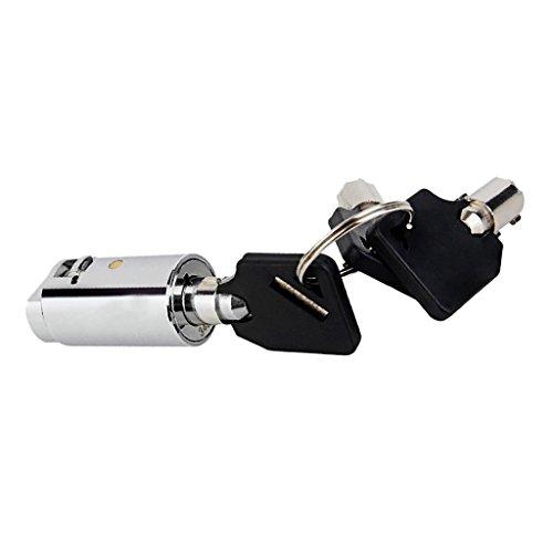 MagiDeal Profi Automatenschloß Rundschloß Türschloß Automat Schloß mit Schlüssel - mit Universalschlüsseln
