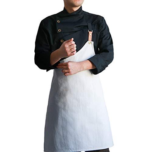 DNJKH Unisex Küche Bekleidung Hotel Arbeitskleidung Mit Schürze