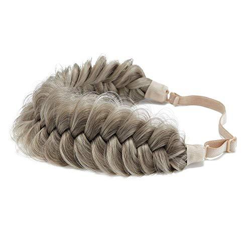 TOECWEGR Extensiones para el pelo, trenzadas, trenzadas, clásicas, chunky, anchas, trenzadas, trenzas, trenzas, accesorios de belleza para mujer Aumenta A011 Champagne Talla única