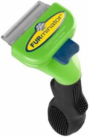 FURminator Deshedding Brush Comb Tool For Short Hair Small Dogs