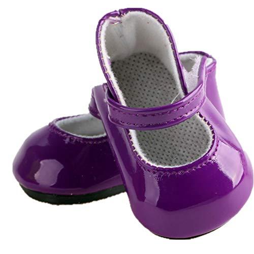 1 Paar Puppenschuhe Flache Schuhe Flattie Zubehör Verschiedene Abendschuhe für 18 Zoll American Girl