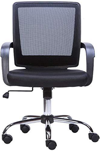 CSD Sedia da Ufficio Sedia Sedia del Personale Mesh Traspirante Design ergonomico Cuscinetto Peso 200 kg Nero