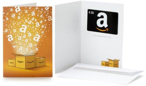 Carte cadeau Amazon.fr - €30 - Dans une carte de vœux Amazon