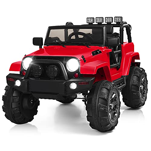Costzon Ride On Truck, 12V Battery Powered Electric Ride On...