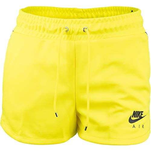 Nike Air - Pantalón corto para mujer, Primavera-verano, Mujer, color amarillo, tamaño S