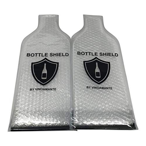 Reusable Wine Bottle Protector 2 Pack - Best Travel Wine Bags - Leakproof Wine Bottle Protective Sleeve - Double Layered for Maximum Protection | Wine Accessory Gift