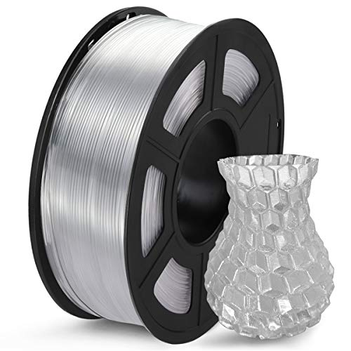 SUNLU Clear PETG Filament 1.75mm, 3D Printer Filament Transparent PETG Dimensional Accuracy /- 0.02 mm, 1KG