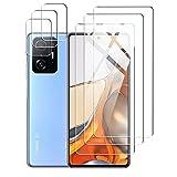 [3 Pièces] Verre Trempé Compatible avec Xiaomi Mi 11T/Mi 11T Pro 5G Protection d'écran [3 Pièces] Caméra Arrière Protecteur Film Protection écran Anti Rayures Ultra Résistant Transparent Dureté Glass