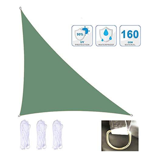 Tissu UV perméable auvent de Triangle équilatéral de Voile de Pare-Soleil de Sable, auvent Durable pour Les rassemblements en Plein air dans Les Jardins et Les Cours