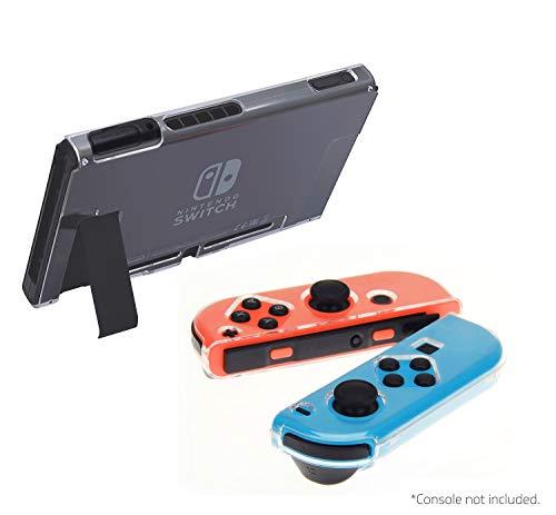 iMW - Carcasa transparente de fácil acople para Nintendo Switch