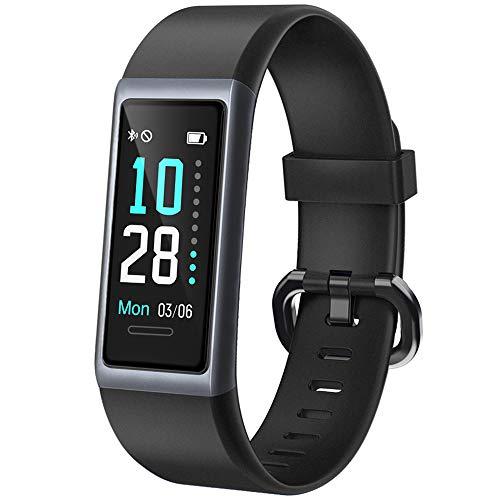 Willful Orologio Fitness Uomo Donna Smartwatch Cardiofrequenzimetro da Polso Contapassi Fitness Tracker con Cronometro Sveglia Impermeabile IP68 per Corsa Sport Smart Watch Compatibile Android iOS
