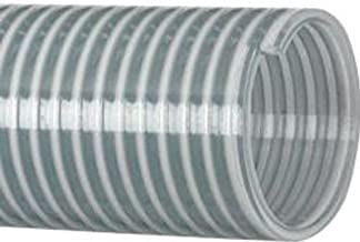Kanaflex Flexible PVC Heavy Duty Water Suction and Discharge Hose, Clear, 1