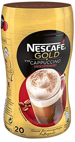 NESCAFÉ Gold Typ Cappuccino Entkoffeiniert, löslicher Bohnenkaffee aus erlesenen Kaffeebohnen, ohne Koffein, mit extra viel Schaum (1 x 250g)