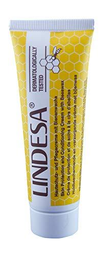 Lindesa Pflegecreme mit Bienenwachs Handcreme Hautschutzcreme PE-Tube 60ml