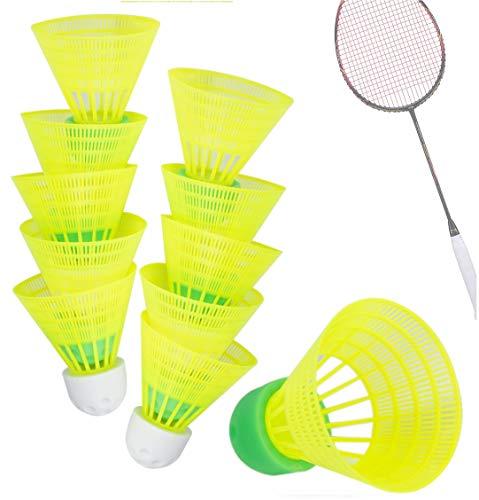 TK Gruppe Timo Klingler 5X Speedbadminton Federbälle schnell gelb Badmintonbälle für Training & Wettkampf Badminton - Feder Ball/Bälle Federball für Outdoor & Indoor (6X)