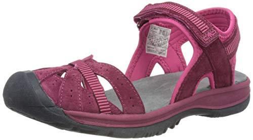CMP – F.lli Campagnolo Hezie Wmn Hiking Sandal, Sandalias de Senderismo Mujer, Gris Titanio U807, 39 EU