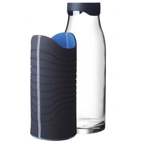Menu 4667769 Karaffe mit Neoprenmantel, 1 Liter, blau/türkis