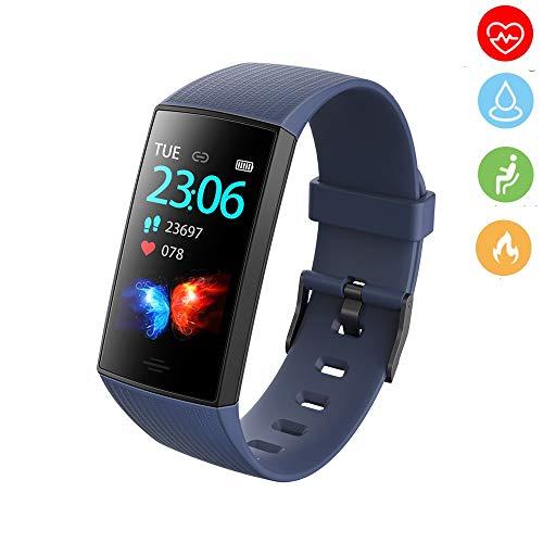 Smart Watch Smartwatch Fitness Trackers, Met Hartslagmeter, Waterdichte Fitness Tracker Horloge Stappenteller Stopwatch,Smart Horloge voor Mannen Vrouwen voor iPhone Android Telefoon
