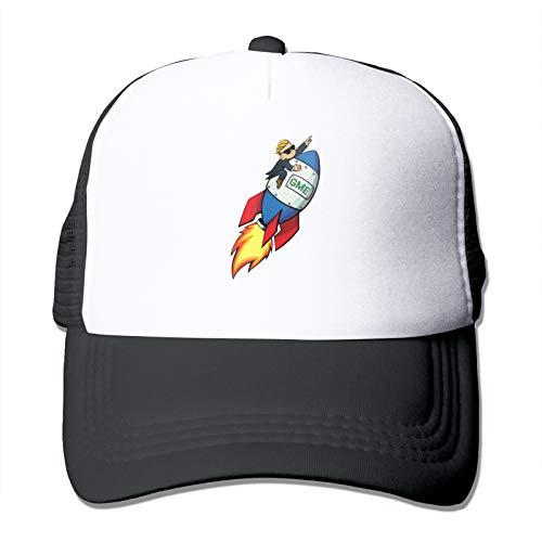 JRJdiy Adult Mesh Cap Gamestonk Rocket to The Moon Trucker Hats Baseball Cap with Adjustable Snapback Strap