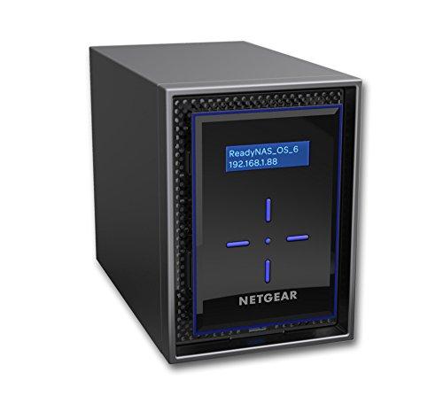 Netgear RN422E2-100NES ReadyNAS Serie 422 Storage di Rete, 2 Slot Inclusi 2 HD Enterprise da 2 TB, Capacità 20 TB, XRAID2, Backup Sicuro, Antivirus, Accesso e Gestione Tramite Cloud, Nero