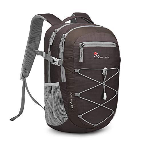 MOUNTAINTOP 22 Liter Rucksäcke Damen Herren Backpack Wanderrucksack Trekkingrucksack Outdoorrucksack Daypacks (Kaffee-NEU)