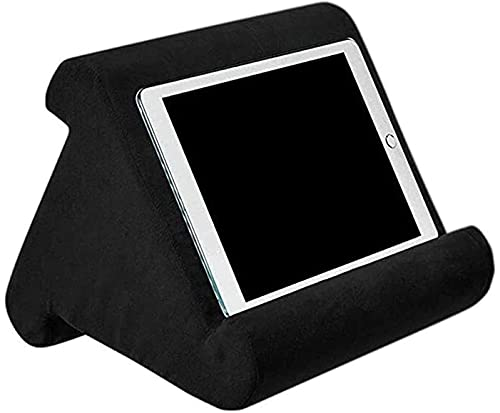 Hezhu Tablet Ständer Kissen Kissenständer Buchablage Multi Angle Soft Bed Pillow Holder Tragbarer Dreieck Tablet Ständer (Schwarz)