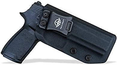 Kydex IWB Holster for Sig Sauer P320 Full Size / P320 Carry / P320 Compact Medium Pistol Case - Inside Waistband Carry Concealed Holster P320 Gun Accessories (Black, Right Hand Draw (IWB))